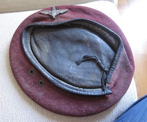 Kangol Wear Ltd 1945 dated Airborne Beret
