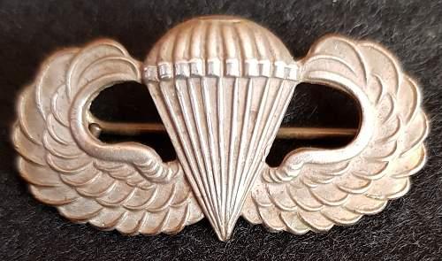 WW2 British made U.S. Airborne Wings
