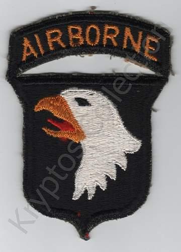 US Airborne shoulder sleeve insignia
