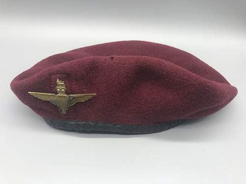 Would appreciate some expert opinons on this 1965 Basque beret. Also, an apology.