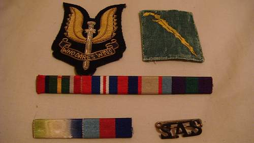 N.Z S.A.S patch unknown and others plus French F.L badge unknown