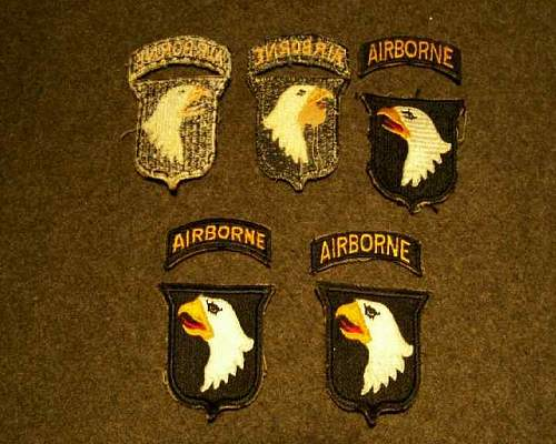 101st Airborne Patch Id-WW2 or post war.