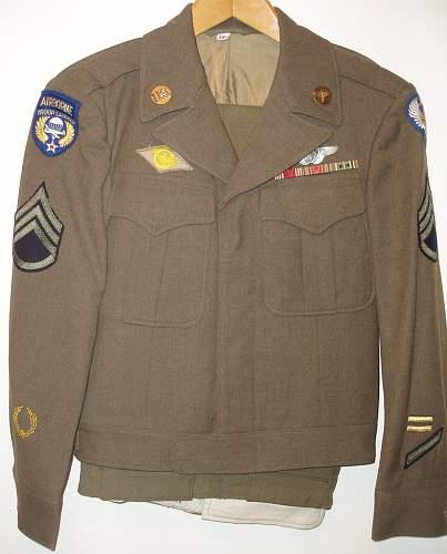 Unique Airborne Troop Carrier uniform grouping...