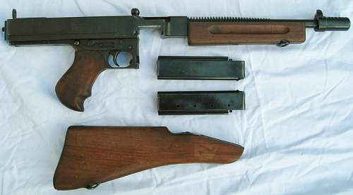 Thompson .45 transition in the British Army WW2 to the MK.2 Sten