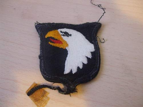 Screaming Eagles Insignia, please help