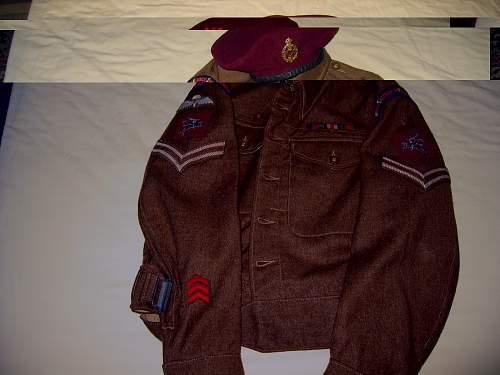 British WWII Airborne Battledress Jackets