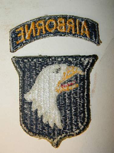 need help identifying a couple of 101st airborne patches