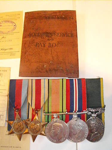WW2 medal grouping and documents 1st airborne