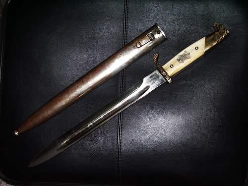 L.A.H. parade bayonet genuine ?