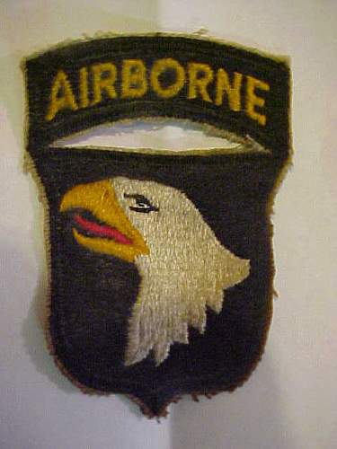 Click image for larger version.  Name:101st Airborne patch.jpg Views:257 Size:26.8 KB ID:409409