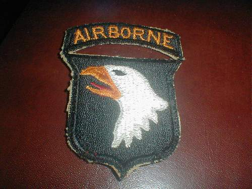 Click image for larger version.  Name:101st Airborne patch WWII - Front.jpg Views:450 Size:172.0 KB ID:409937