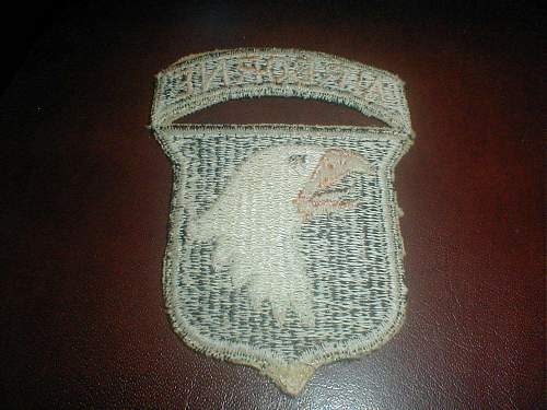 Click image for larger version.  Name:101st Airborne patch WWII - Reverse.jpg Views:665 Size:164.5 KB ID:409938