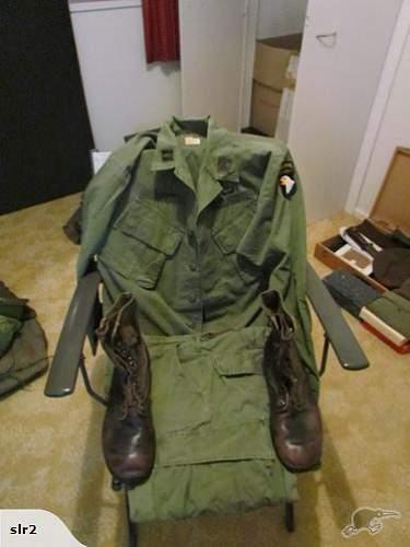 vietnam era 101st airborne uniform