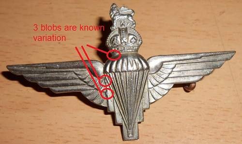 Click image for larger version.  Name:para cap badge front anotated.jpg Views:156 Size:81.5 KB ID:432111