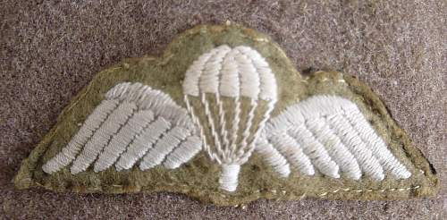 Click image for larger version.  Name:Parachute wings. Officers padded type..JPG Views:430 Size:131.9 KB ID:440334