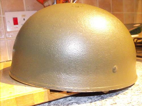 WW2 British 1944 BMB helmet