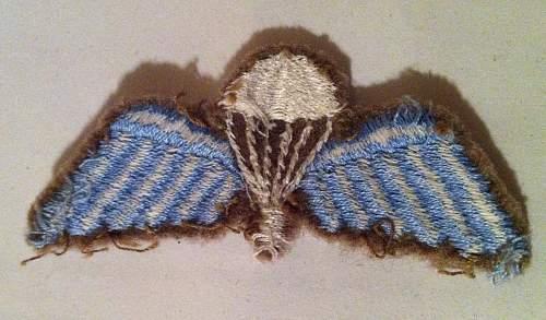 WW2 British Para Wings - Real or Fake ?