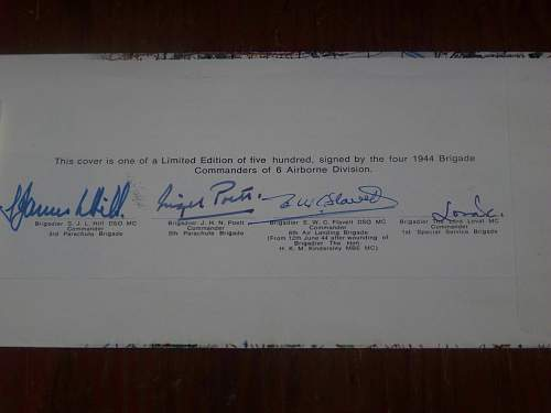 6th Airborne divisions Normandy cover signed by the 4 commanders
