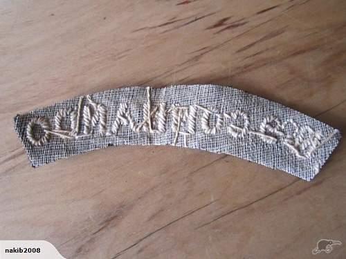 British Commando Shoulder Patch
