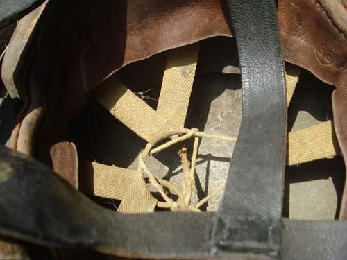 Canadian  DR helmet converted Post war to Airborne Helmet