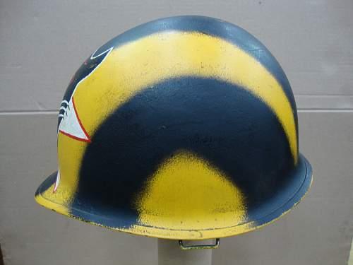 ?Old US camo helmet 60's 70's  ???