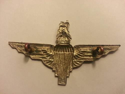 ww2 parachute regiment badge ?