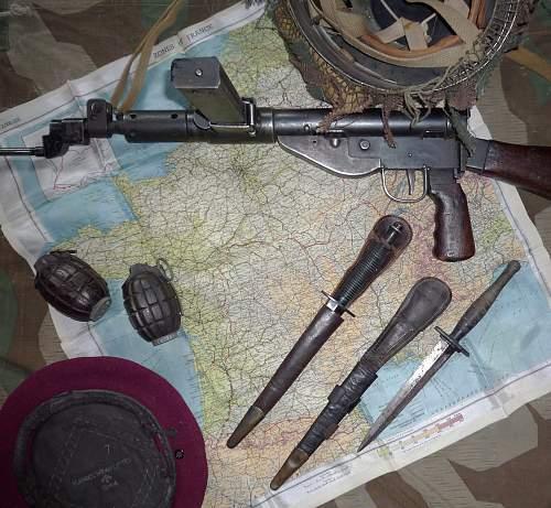 Sten MkV and a few British Airborne pieces