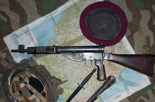 Sten MkV and a few British Airborne pieces