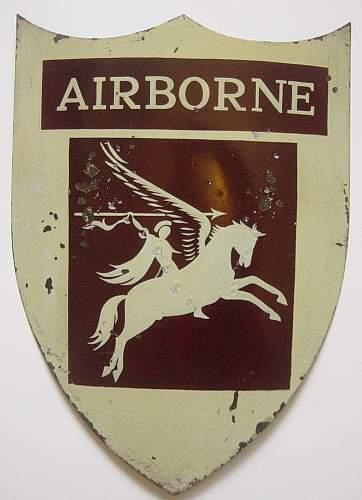 British Airborne Divison mess decoration