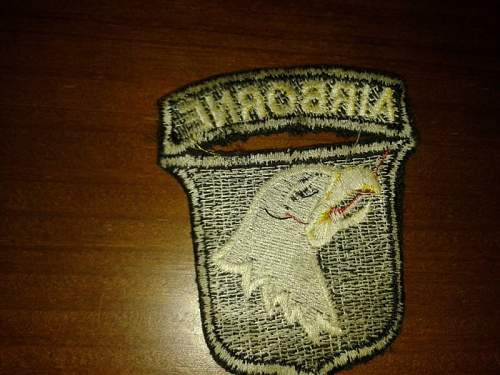 US 101st A/B patch: Is this is a reproduction?