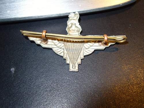 Parachute Regt cap badge