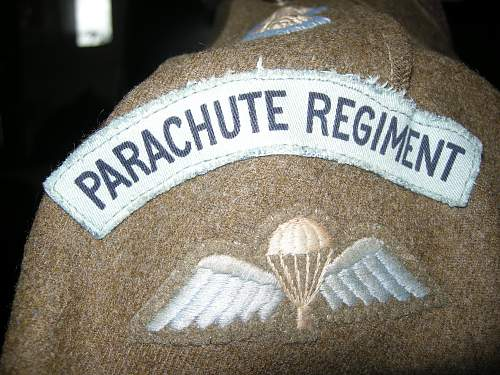 Airborne badges and uniforms