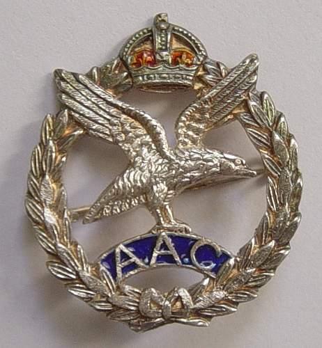 British Army Air Corps sweetheart broach