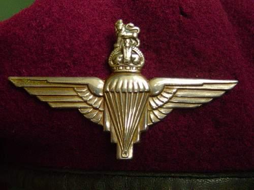 Need Help With British Parachute Regiment Badge