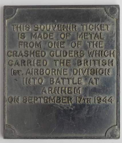 Arnhem Glider ticket?