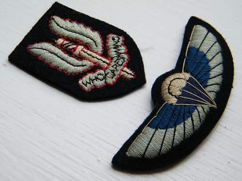 Click image for larger version.  Name:SAS beret and uniform badges set 1970's 80's oblique.jpg Views:1174 Size:212.0 KB ID:760875