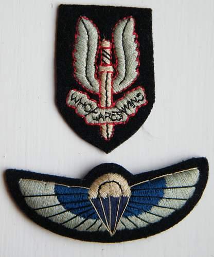 Click image for larger version.  Name:SAS beret and uniform badges set 1970's 80's.jpg Views:1698 Size:212.8 KB ID:760876