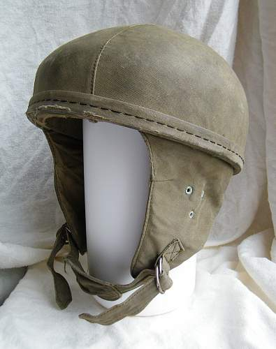 French indochina 1950's parachure training helmet