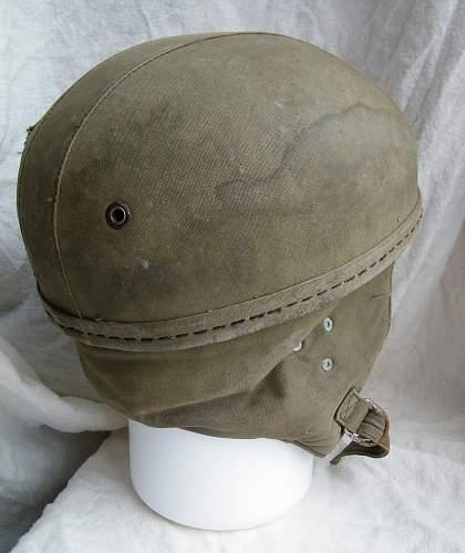 French indochina 1950's parachure training helmet