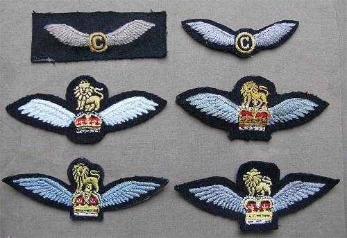 British Army Flying Badge half size wing