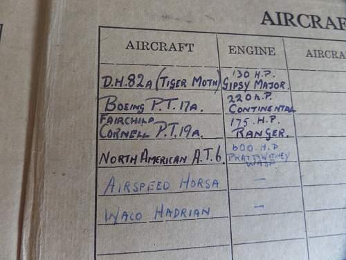 Interesting ww2 British Glider pilot Log book
