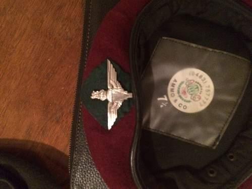 Help with British beret identification