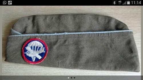 Garrison Cap airborne combined patch