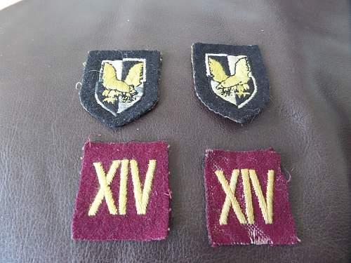 Special Training Centre (STC) Lochailort Div badges