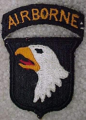 101st Airborne Patch and tab