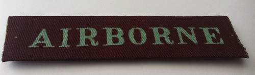 British Airborne Tab and Patch