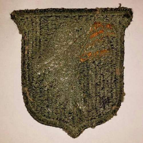 Type 6,White tongue greenback 101st Airborne patch.