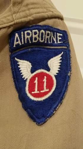 127th AEB, 11th airborne division shirt