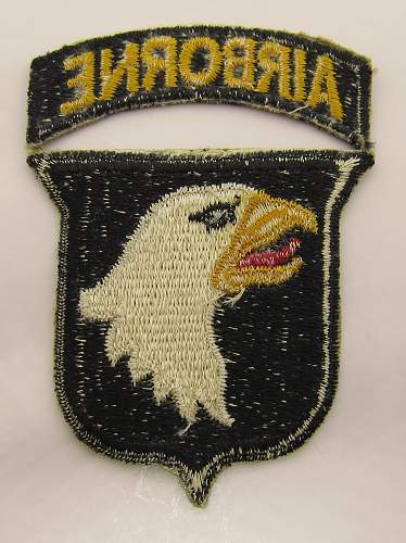 """101st Airborne """"Screaming Eagle"""" patch"""