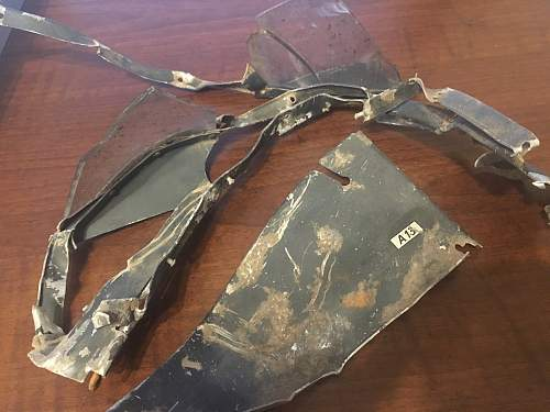 Luftwaffe aircraft cabin fragments. Need identifcation help